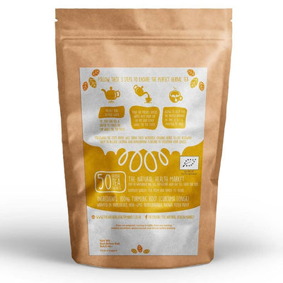 Organic Turmeric Tea Bags 50 - By The Natural Health Market