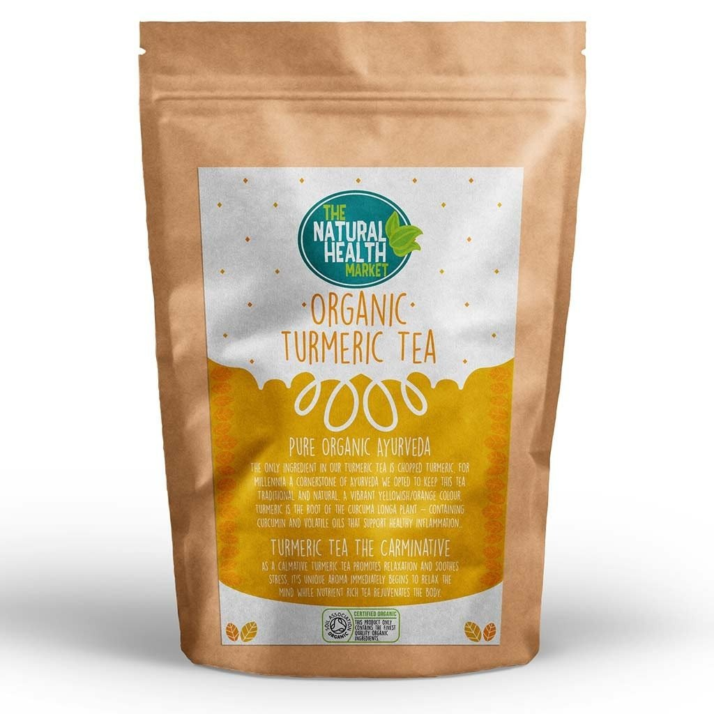 Organic Turmeric Tea Bags Front - By The Natural Health Market