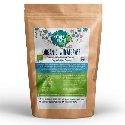 Organic Wheatgrass Powder 50g - New Zealand Origin - By The Natural Health Market