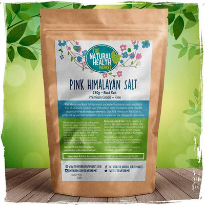 Himalayan Pink Rock Salt 250g Fine Grain by The Natural Health Market