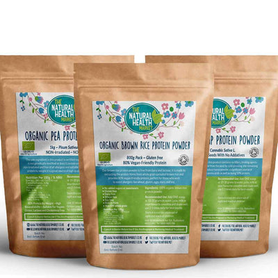 Plant Based Vegan Protein Powder Bundle Extra Large By The Natural Health Market