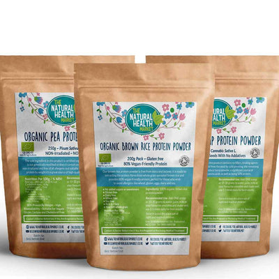 Plant Based Vegan Protein Powder Bundle Medium By The Natural Health Market