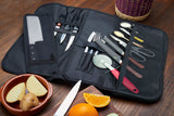 Knife Roll Bag For Chefs (17 Slots) Includes 2 Knife Guards