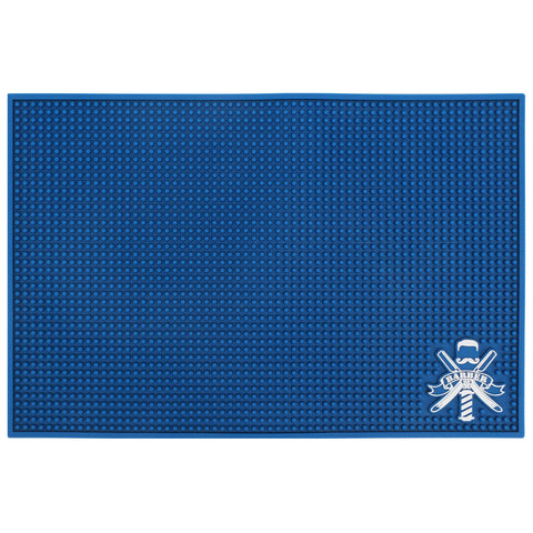 BARBER'S STATION MAT | LARGE BLUE