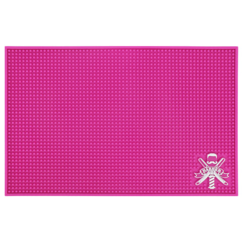 BARBER'S STATION MAT | LARGE PINK