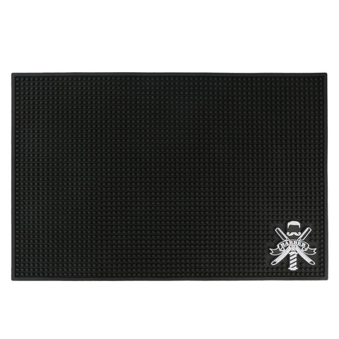 BARBER'S STATION MAT | LARGE BLACK
