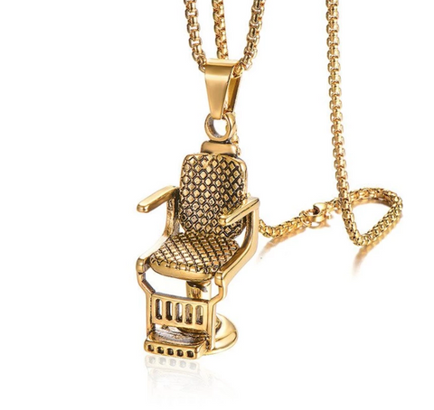 Barber Chair | Pendant | Barber Jewelry | Necklace | Chain | Barrbers Co.