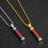 Lantern | Barber Pole | Pendant | Barber Jewelry | Necklace | Chain | Barrbers Co.