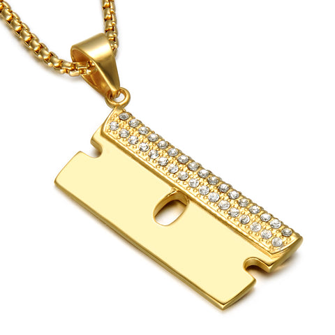 Razor Blade | Pendant | Barber Jewelry | Necklace | Chain | Barrbers Co.