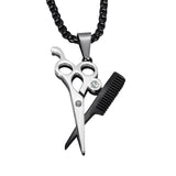 Barber Shears | Barber Jewelry | Necklace | Chain | Barrbers Co.
