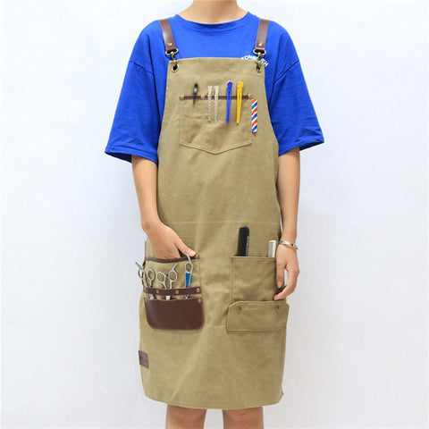 Barber Apron | FLAXEN | Barrbers Co.