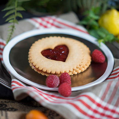 Raspberry Heart Cookie