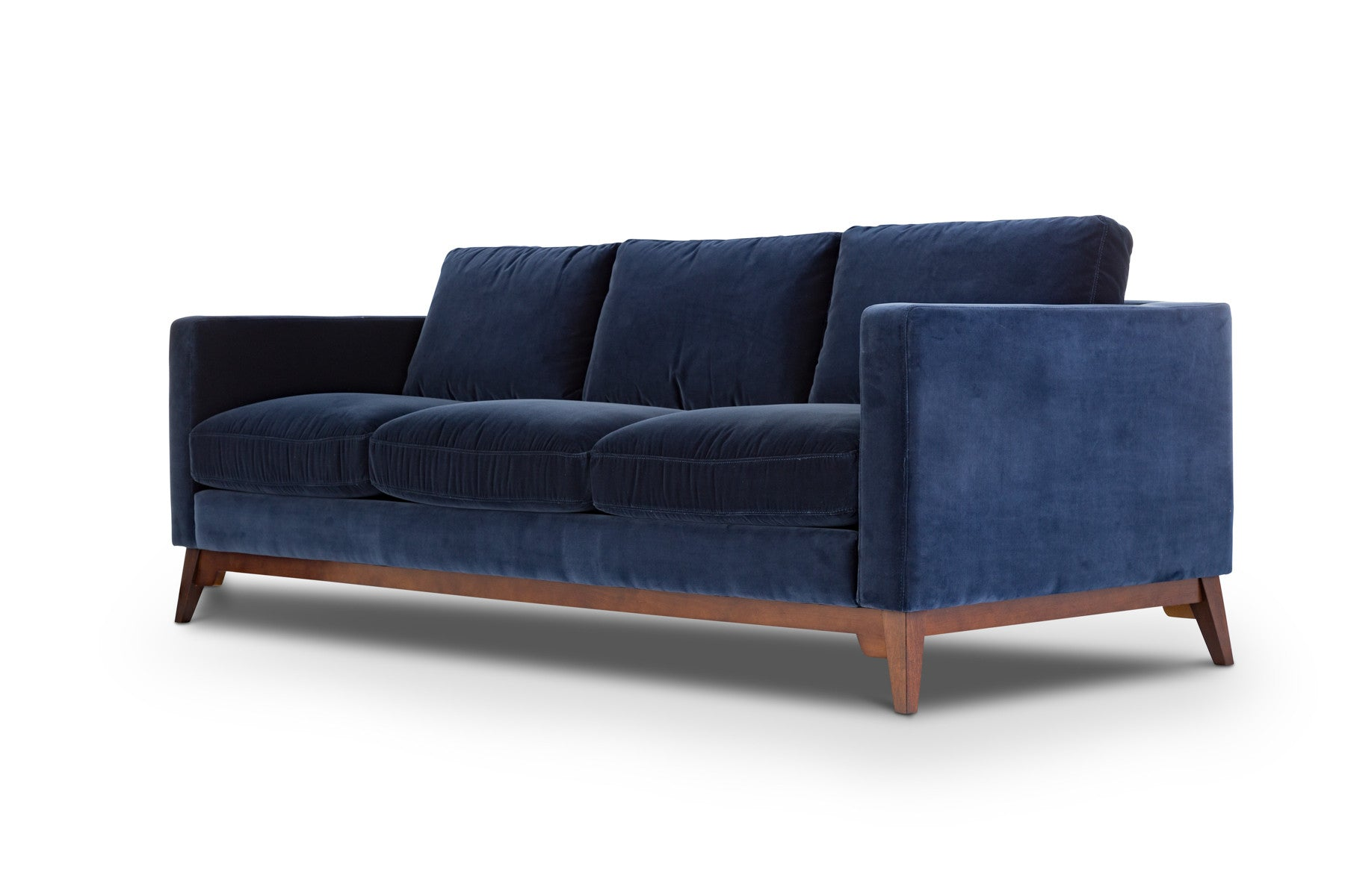 Chantelle Cotton Navy Modern Scandinavian Sofa Couch – jovili