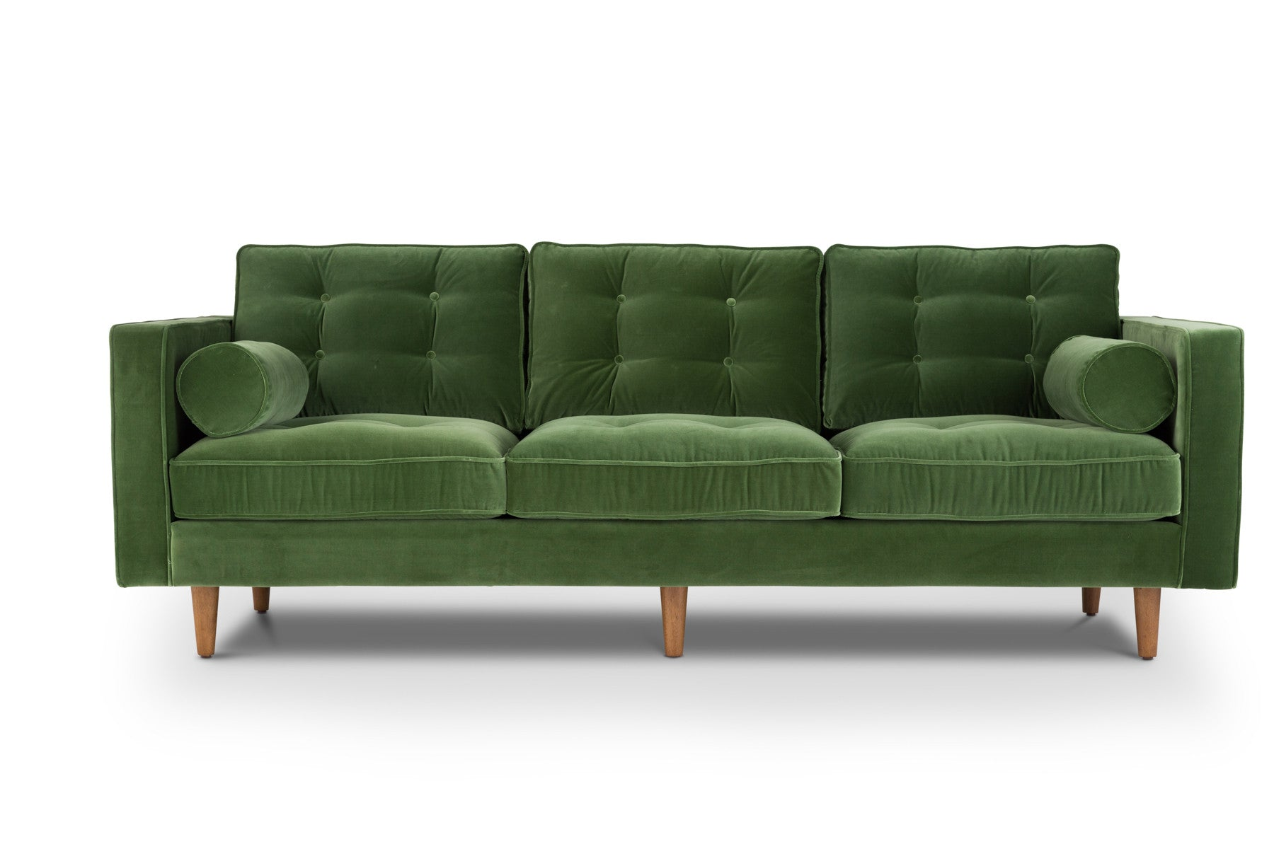 Modern contemporary velvet sofa