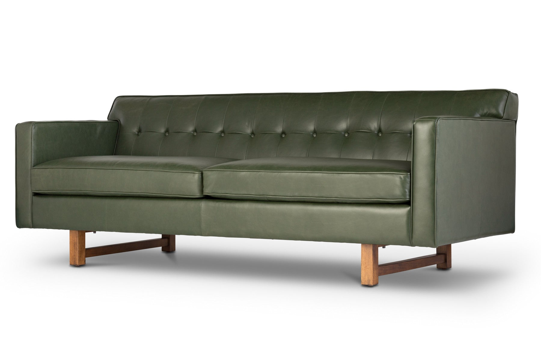 Scandinavian modern Italian leather sofa