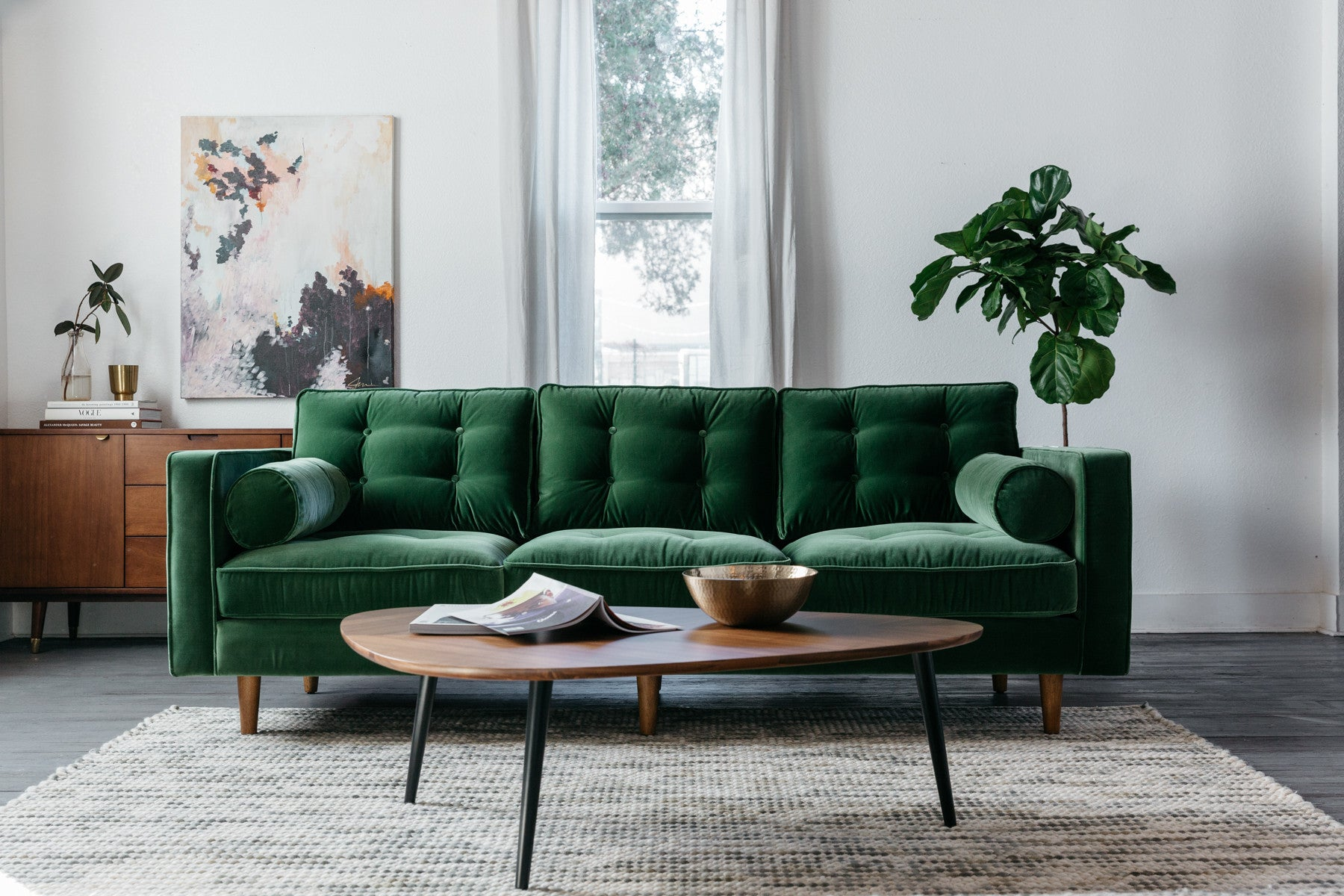 Dark Green Sofa Living Room Ideas