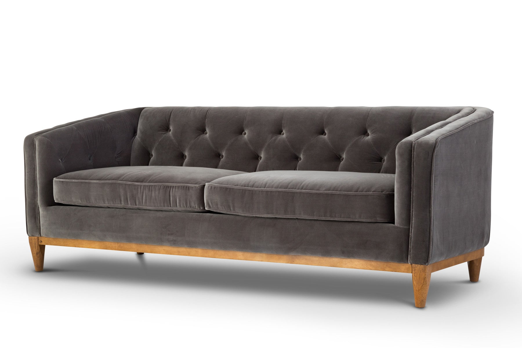 contemporary danish velvet sofa