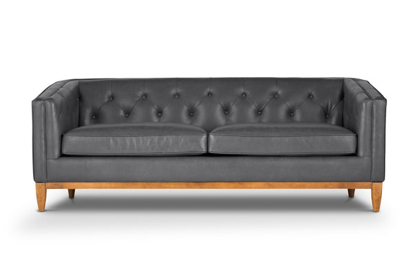 Contemporary Classic Italian Leather Sofa