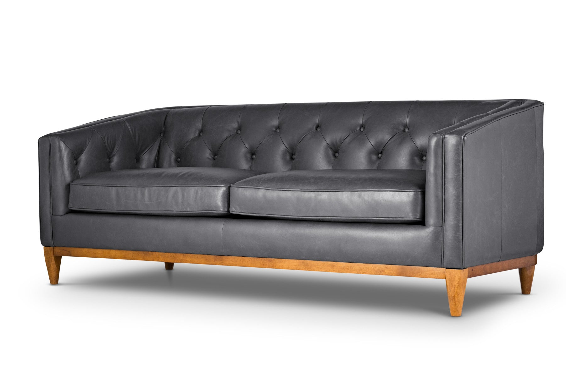 Affordable modern Italian leather sofa
