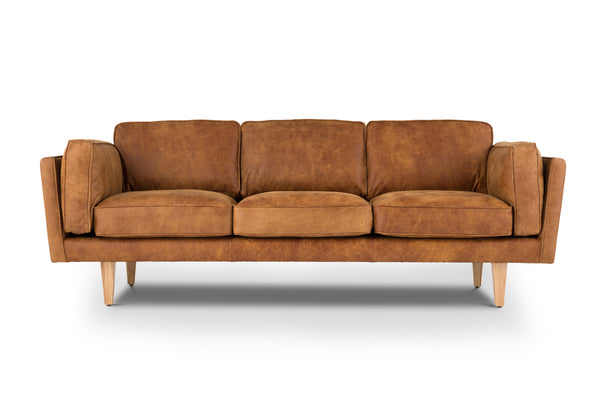 Reyna - Outback Tan Modern Classic Leather Sofa