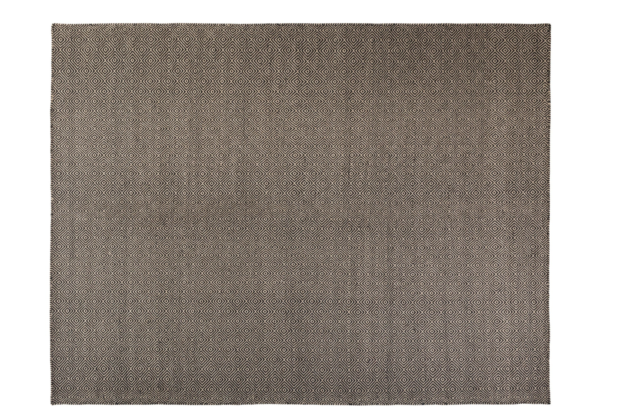 Herm - Diamond Toupe/Black 100% Wool Scandinavian Area Rug