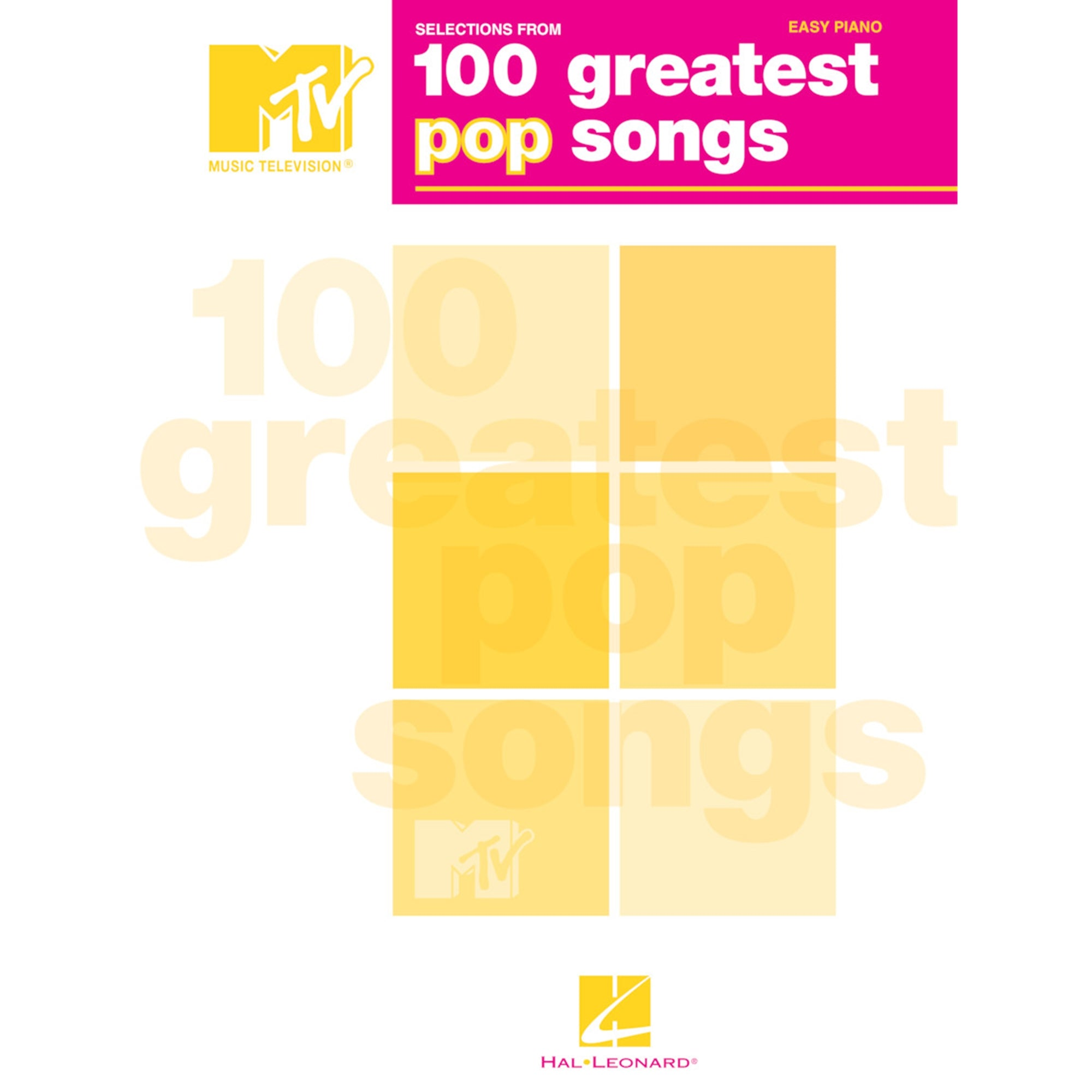 HAL LEONARD 311751 Selections from MTV's 100 Greatest Pop Songs
