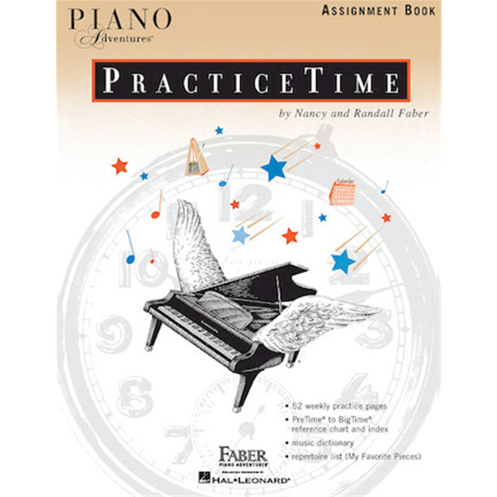 FJH PUBLISHER 420217 Piano Adventures PracticeTime Assignment Book