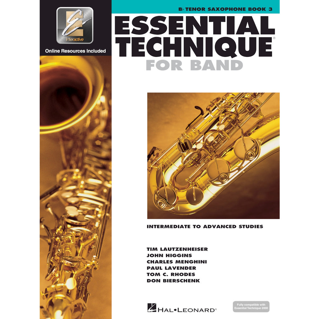 HAL LEONARD 862624 Essential Technique Tenor Sax Bk 3