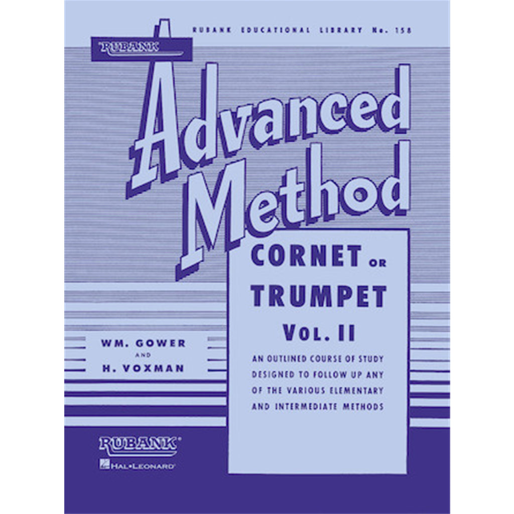 HAL LEONARD HL04470340 Rubank Advanced Method - Cornet or Trumpet, Vol. 2