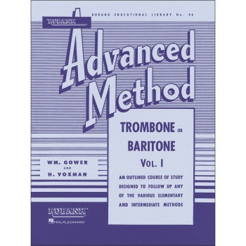 HAL LEONARD HL04470350 Rubank Advanced Method - Trombone or Baritone, Vol. 1