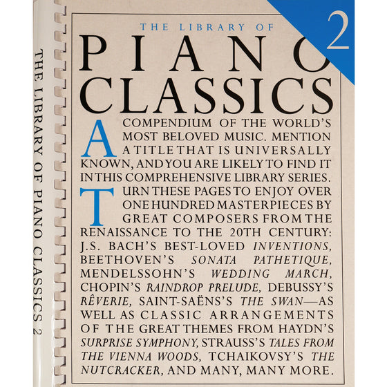 HAL LEONARD 14019047 Library of Piano Classics 2