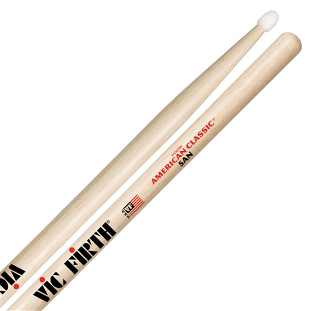 VIC FIRTH VF5AN 5AN American Classic Hickory Drumsticks, Nylon Tip