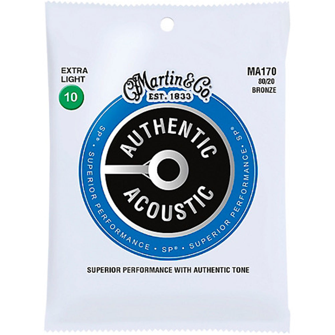 MARTIN MA170 80/20 Bronze Extra Light Acoustic Guitar Strings