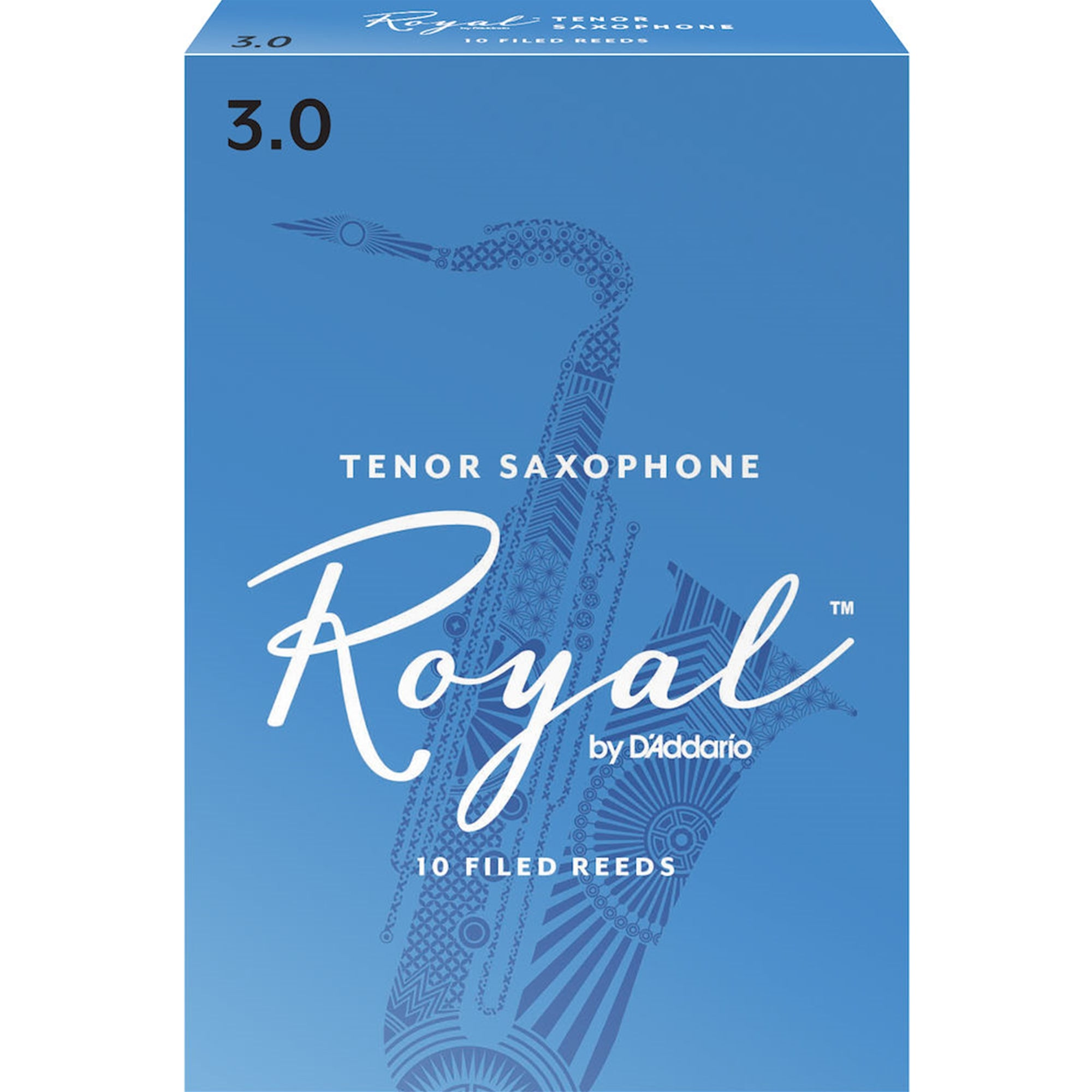 RICO ROYAL RKB1030 #3 Tenor Sax Reeds, Box of 10