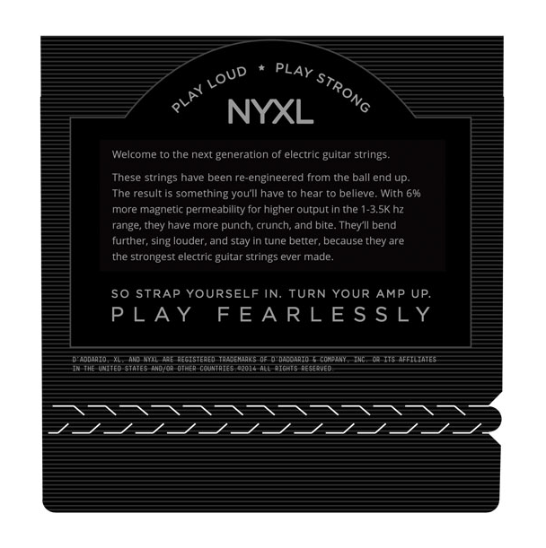 D'ADDARIO NYXL1156 NYXL Medium Top/Extra-Heavy Bottom Electric Guitar Strings,
