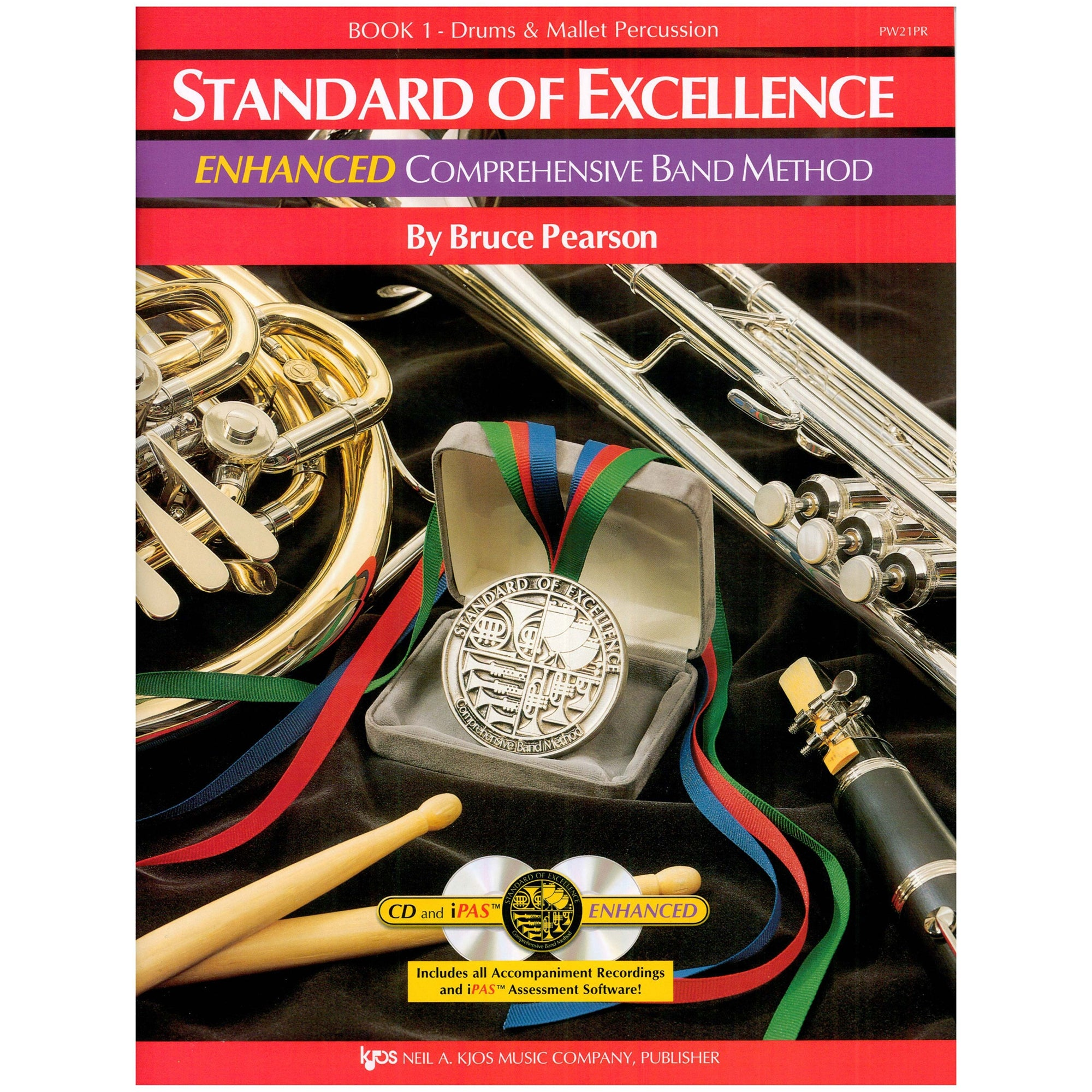 KJOS PW21PR Standard of Excellence Book 1 Percussion