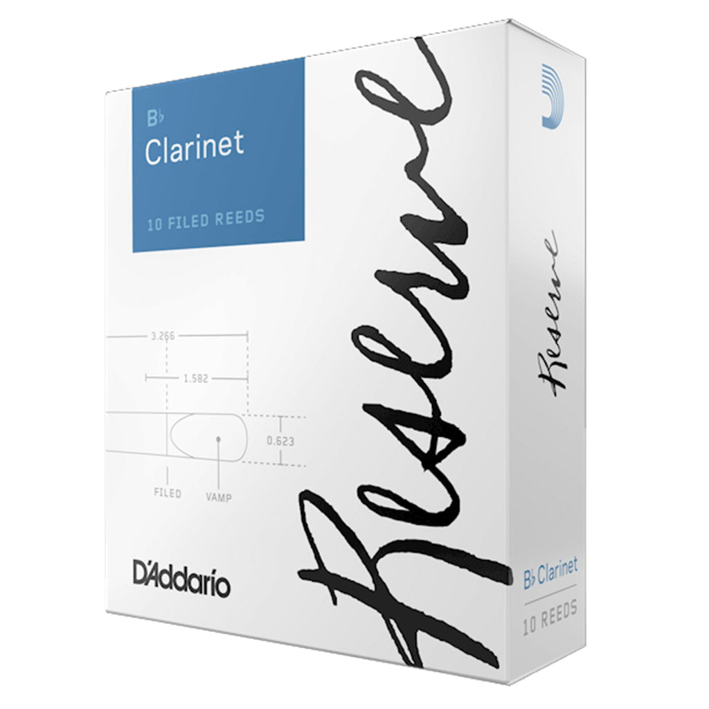 D'ADDARIO DCR1030 #3 Reserve Clarinet Reeds, Box of 10