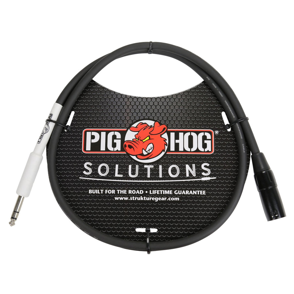 "Pig Hog PX4T3 XLR(m) to 1/4"" TRS - 3' Adapter Cable"
