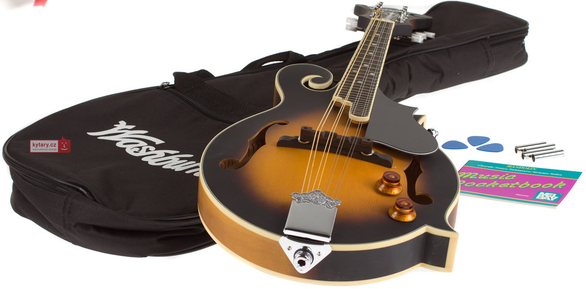 WASHBURN M3EK F Style A/E Mandolin Kit w/ Gig Bag