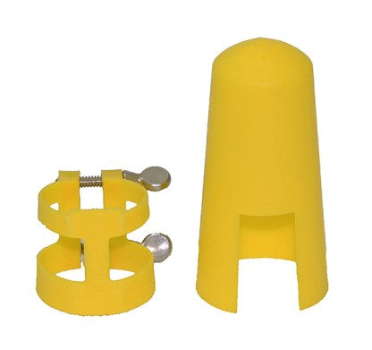 LUYBEN LLY Yellow Clarinet Ligature & Cap