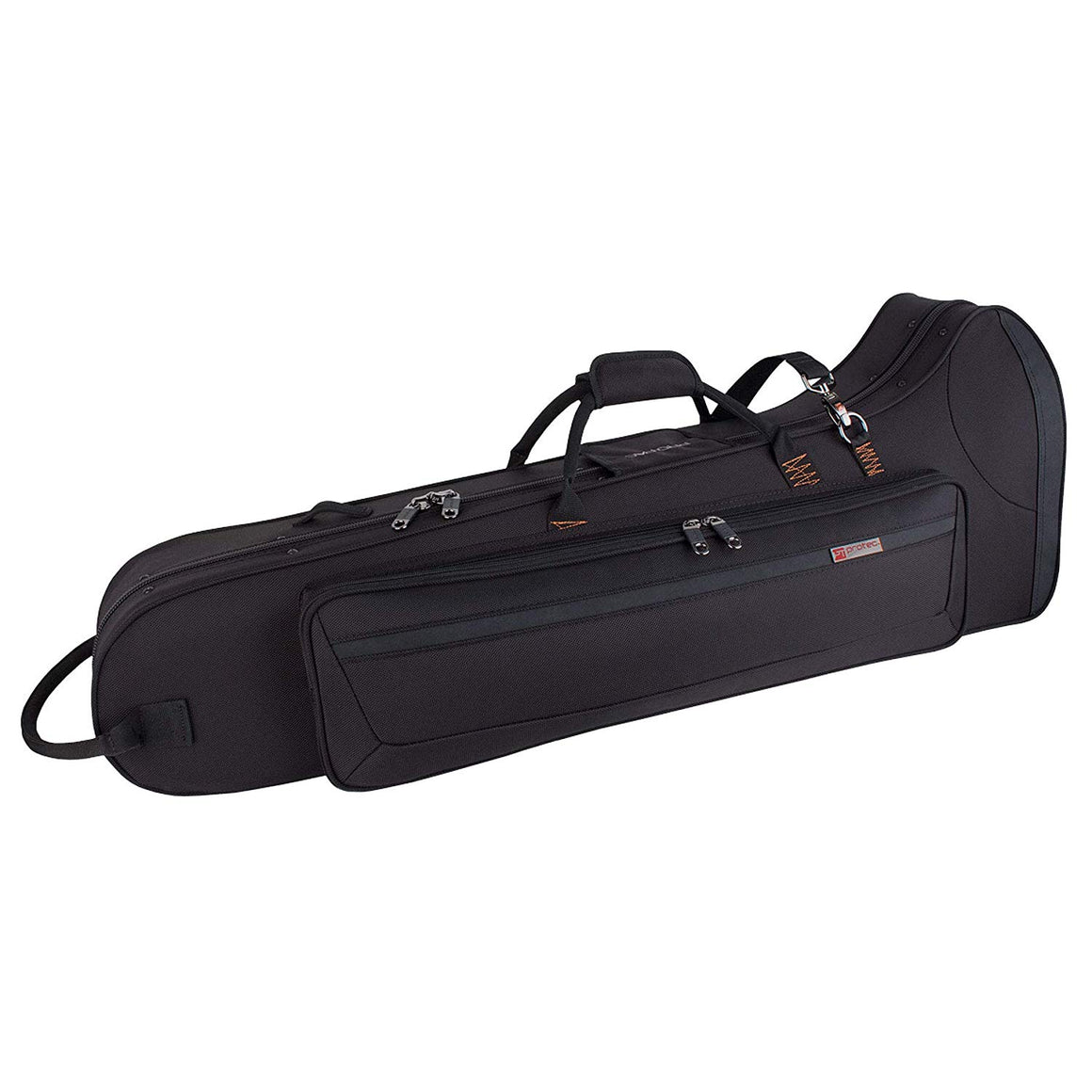 Protec PB306CT Tenor Trombone with F-Attachment PRO PAC Case – Contoured (Black)