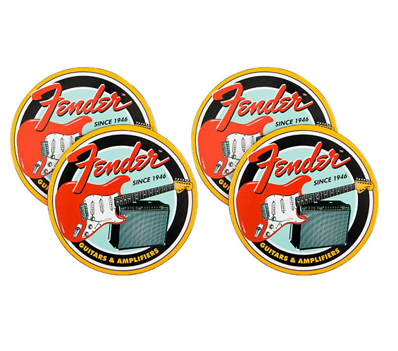 FENDER 9124789000 Vintage Guitar & Amp Coaster Set