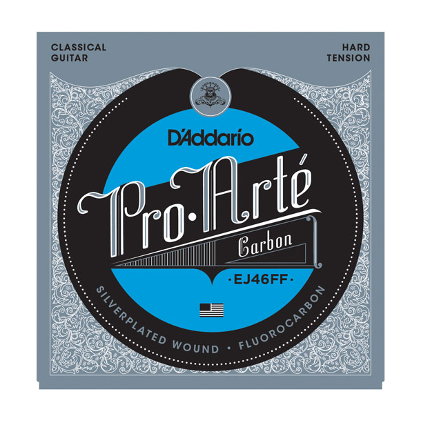 D'ADDARIO EJ46FF Pro-Arte Carbon Classical Guitar Strings, Dynacore Basses, Hard Tension