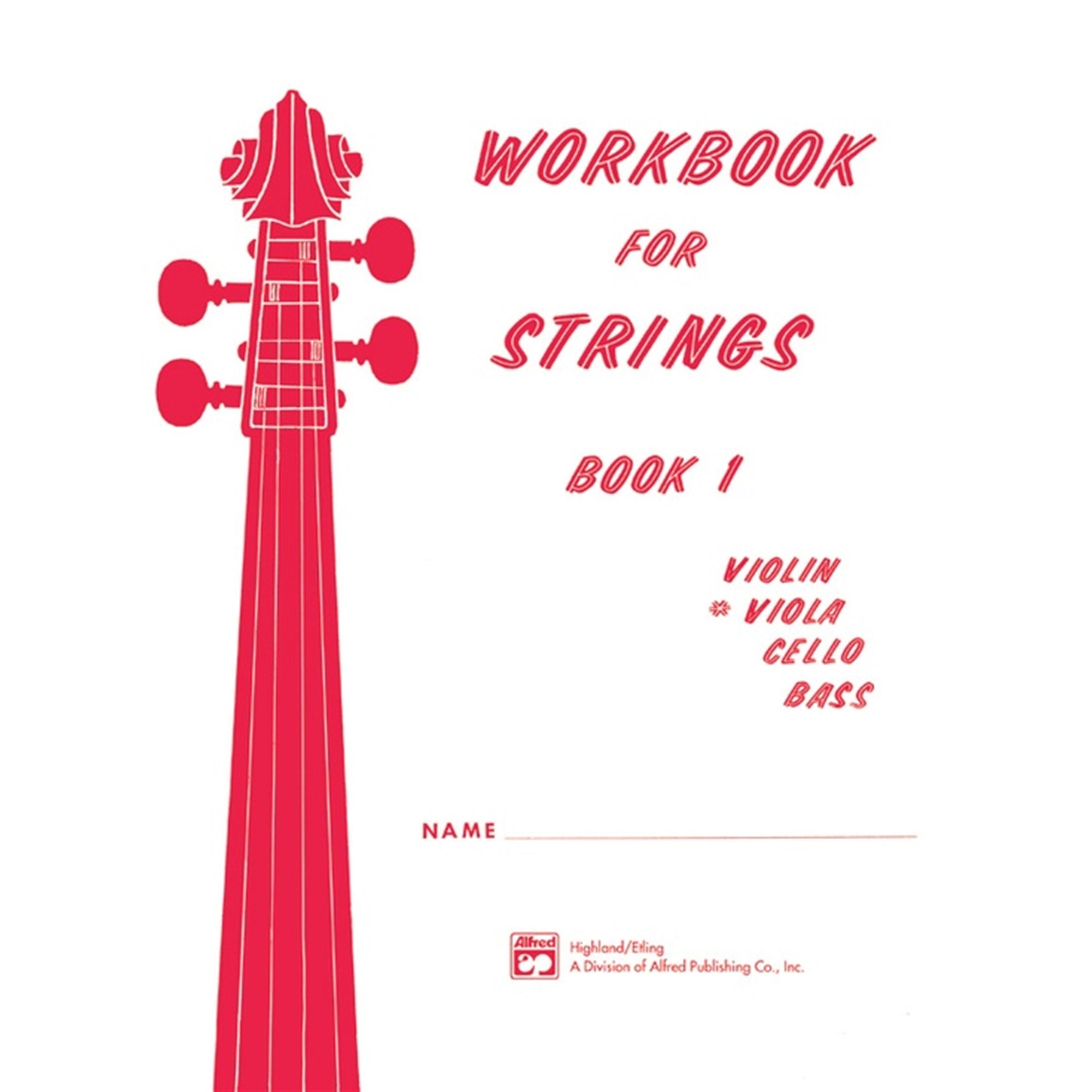 ALFRED 13171 Workbook for Strings, Book 1 (Viola)