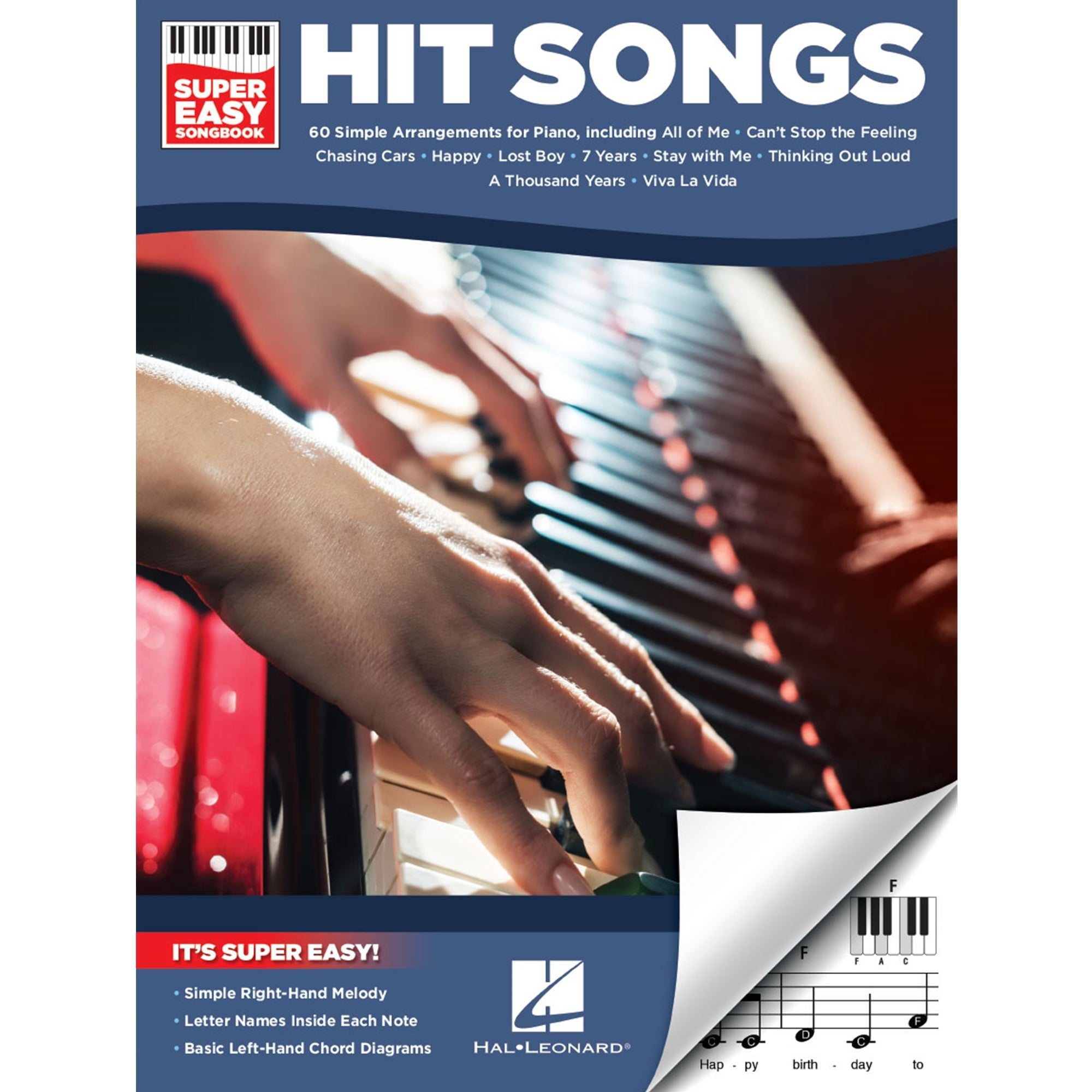 HAL LEONARD 194367 Hit Songs – Super Easy Songbook