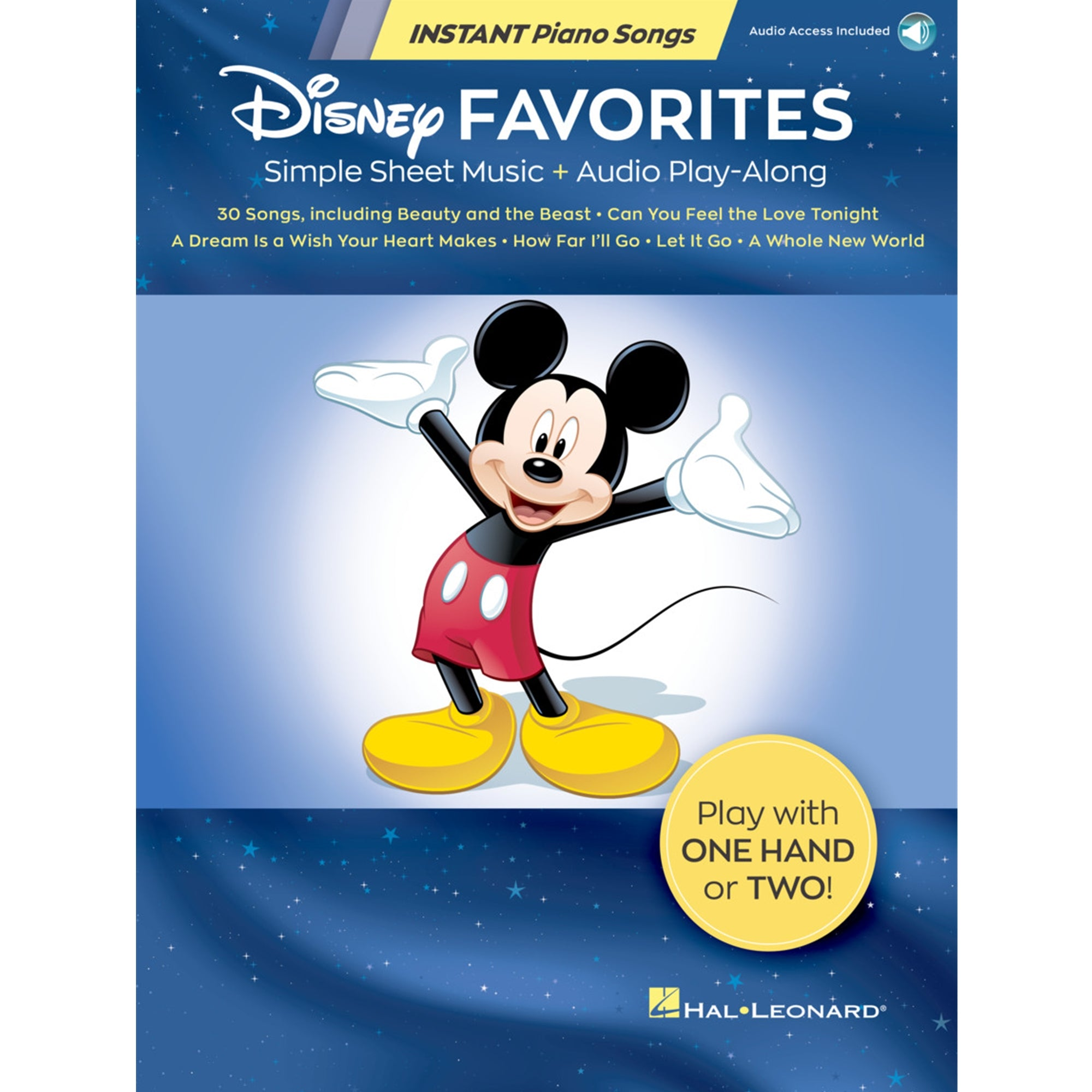 HAL LEONARD 283720 Disney Favorites – Instant Piano Songs