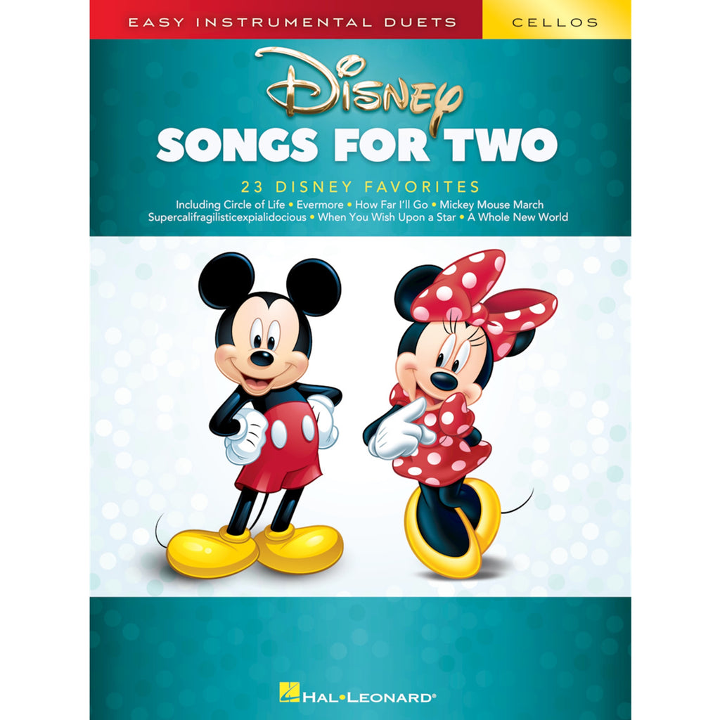 HAL LEONARD 284649 Disney Songs for Two Cellos