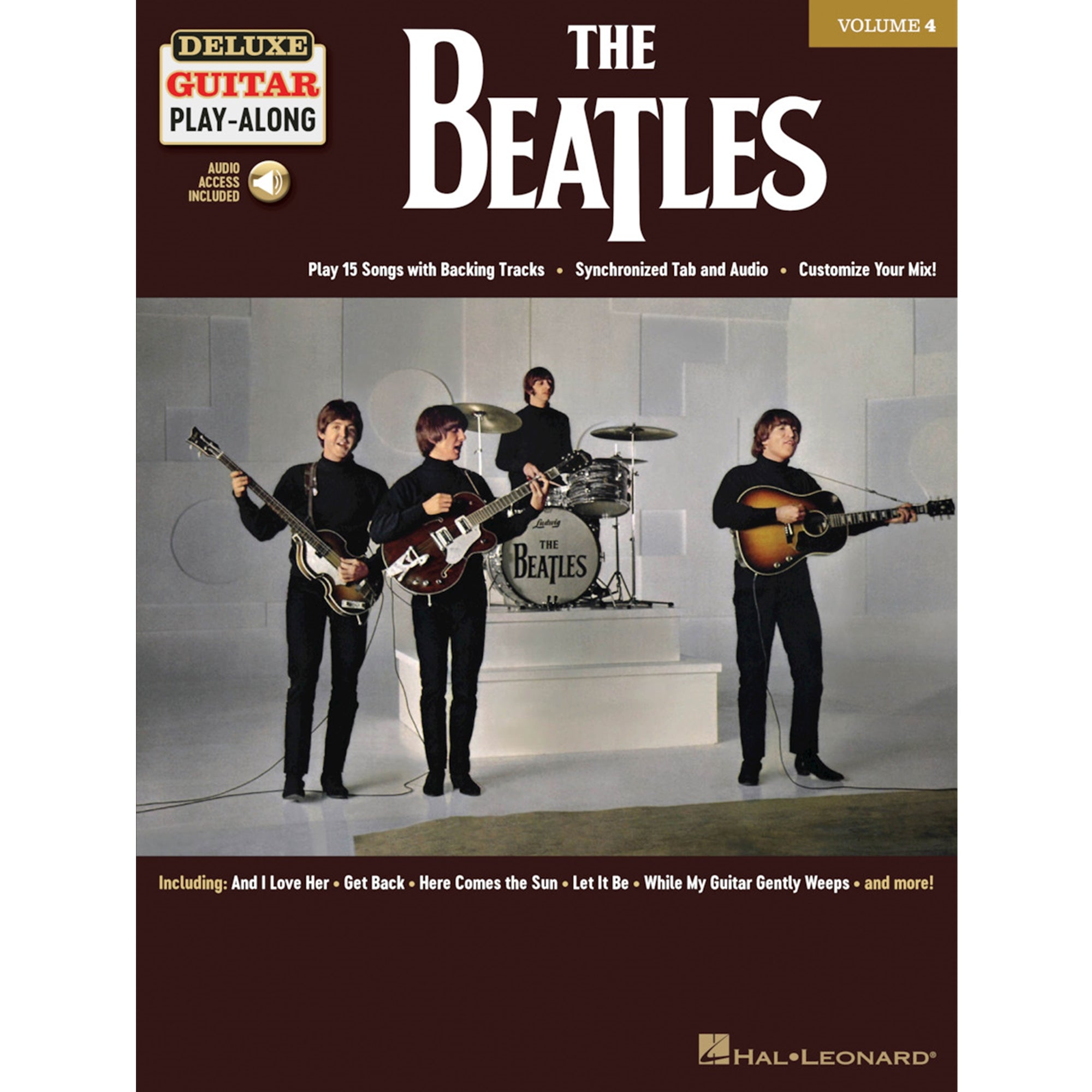 HAL LEONARD 244968 The Beatles Deluxe Guitar Play-Along Volume 4