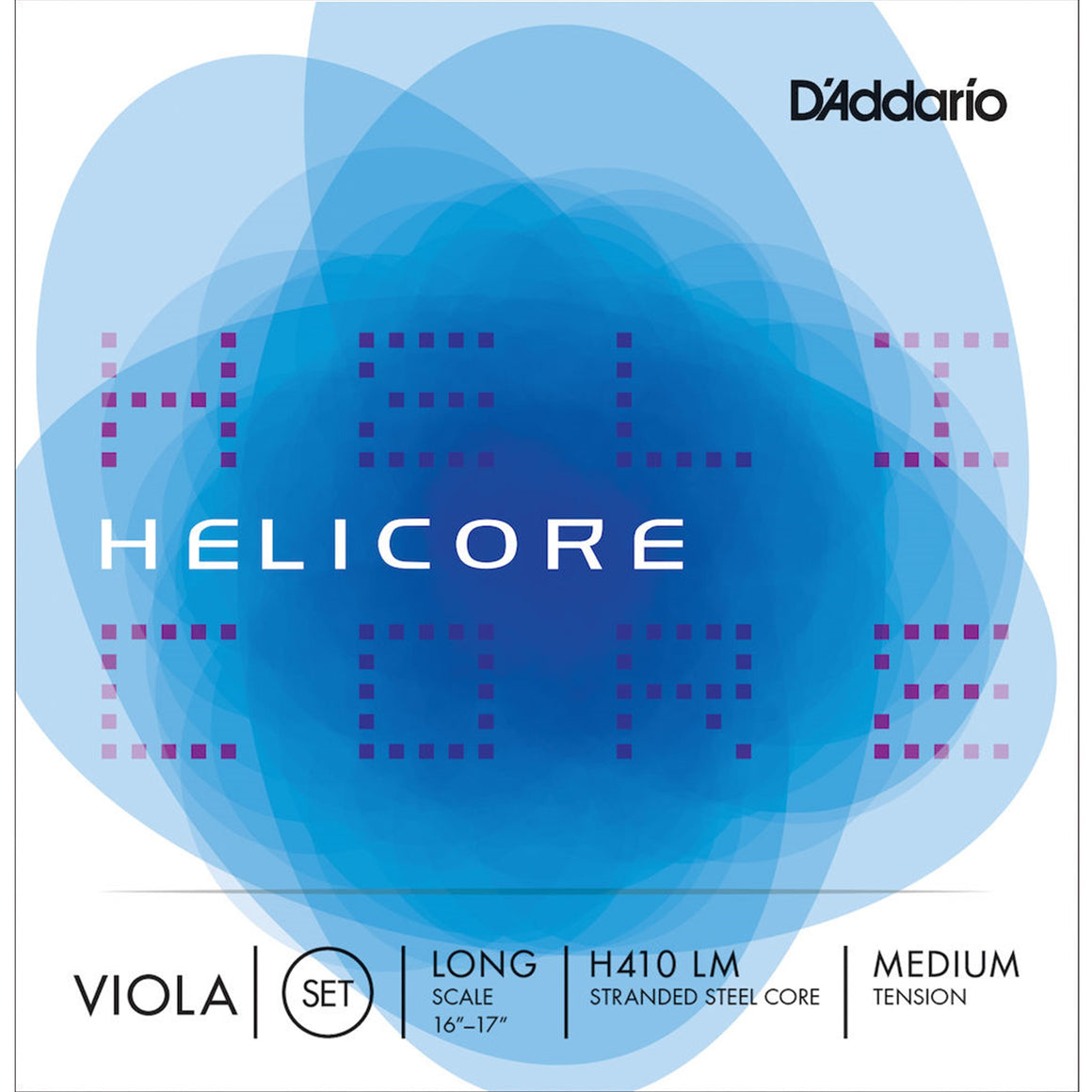 D'ADDARIO H410LM Helicore Viola String Set, Long Scale, Medium Tension 16-16 1/2""