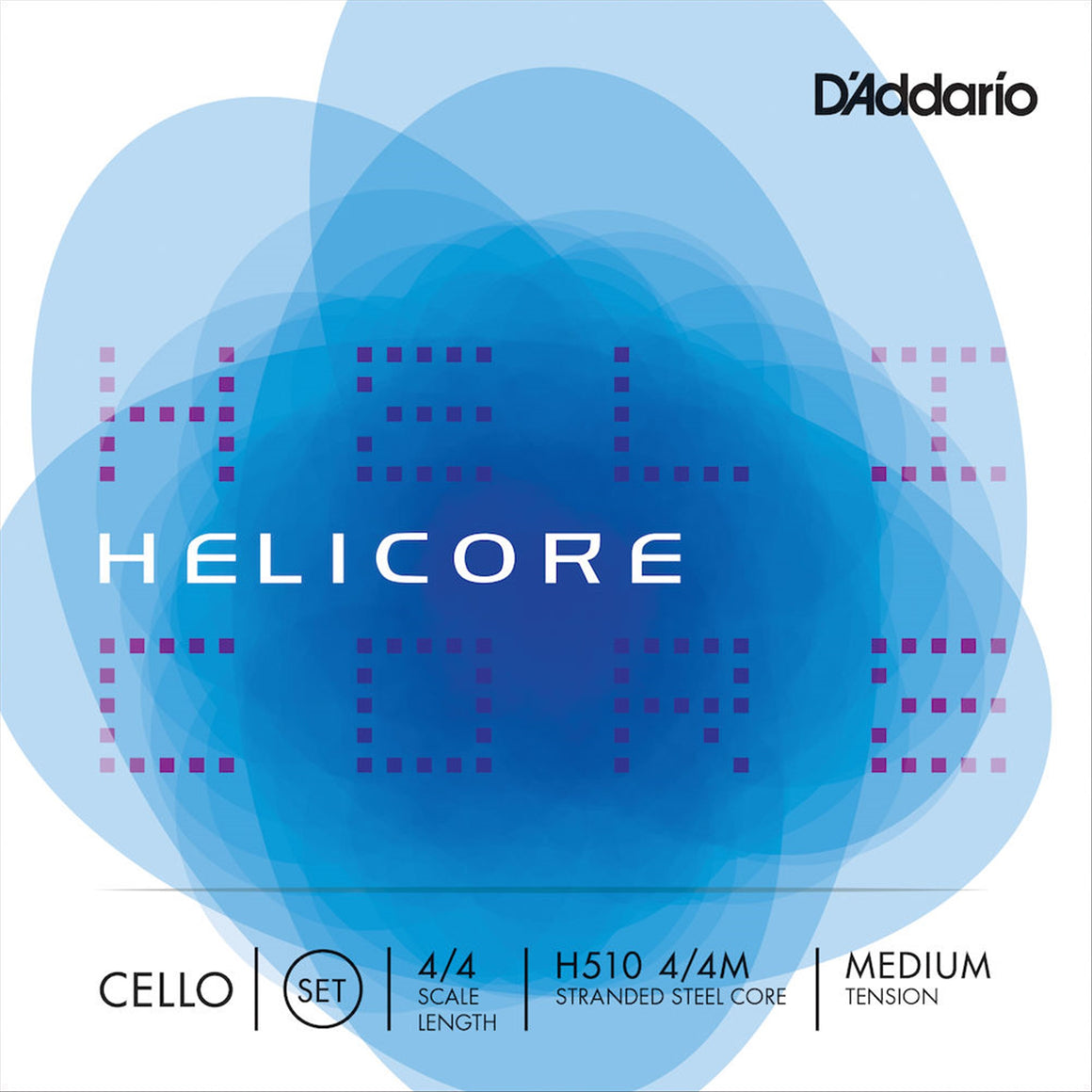 D'ADDARIO H51044M 4/4 Helicore Cello Strings, Medium Tension